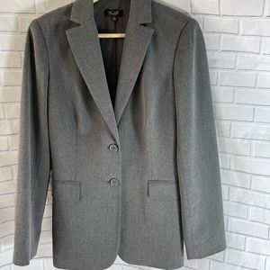 Camille LaVie Two-Button Grey Fitted Blazer Sz 6